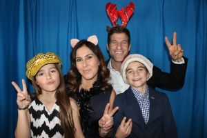 Family picture in a photo booth