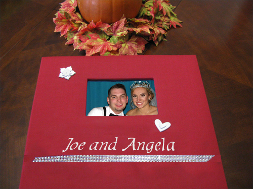 Photo booth guest book for wedding