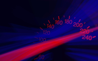 photo of speedometer representing website load speed